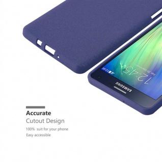 Cadorabo Hülle für Samsung Galaxy A7 2015 in FROST DUNKEL BLAU - Handyhülle aus flexiblem TPU Silikon - Silikonhülle Schutzhülle Ultra Slim Soft Back Cover Case Bumper - Vorschau 3