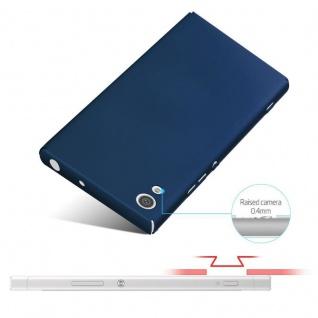 Cadorabo Hülle für Sony Xperia XA1 in METALL BLAU - Hardcase Handyhülle aus Plastik gegen Kratzer und Stöße - Schutzhülle Bumper Ultra Slim Back Case Hard Cover - Vorschau 4