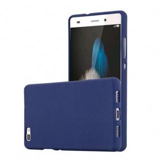 Cadorabo Hülle für Huawei P8 LITE 2015 in FROST DUNKEL BLAU - Handyhülle aus flexiblem TPU Silikon - Silikonhülle Schutzhülle Ultra Slim Soft Back Cover Case Bumper