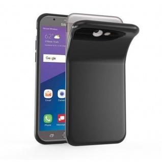 Cadorabo Hülle für Samsung Galaxy J7 2017 US Version in SCHWARZ - Handyhülle aus flexiblem TPU Silikon - Silikonhülle Schutzhülle Ultra Slim Soft Back Cover Case Bumper