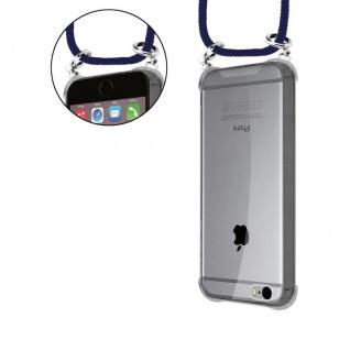 Cadorabo Handy Kette für Apple iPhone 6 PLUS / iPhone 6S PLUS in TIEF BLAU - Silikon Necklace Umhänge Hülle mit Silber Ringen, Kordel Band Schnur und abnehmbarem Etui - Schutzhülle - Vorschau 5