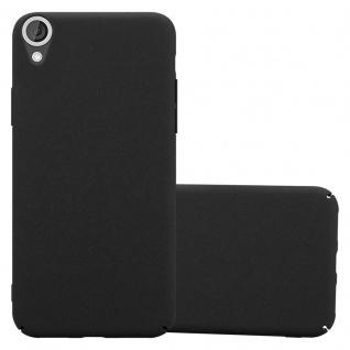 Cadorabo Hülle für HTC Desire 820 in FROSTY SCHWARZ - Hardcase Handyhülle aus Plastik gegen Kratzer und Stöße - Schutzhülle Bumper Ultra Slim Back Case Hard Cover