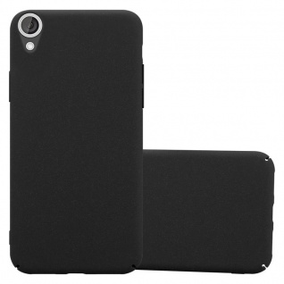 Cadorabo Hülle für HTC Desire 820 in FROSTY SCHWARZ Hardcase Handyhülle aus Plastik gegen Kratzer und Stöße Schutzhülle Bumper Ultra Slim Back Case Hard Cover