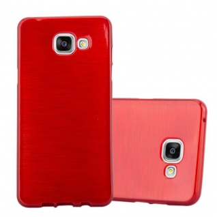 Cadorabo Hülle für Samsung Galaxy A5 2016 in ROT - Handyhülle aus flexiblem TPU Silikon - Silikonhülle Schutzhülle Ultra Slim Soft Back Cover Case Bumper