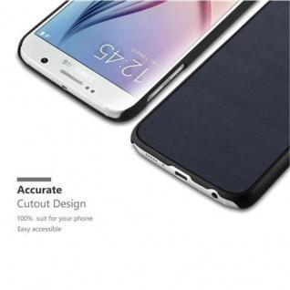 Cadorabo Hülle für Samsung Galaxy S6 in WOODY BLAU ? Hardcase Handyhülle aus Plastik gegen Kratzer und Stöße ? Schutzhülle Bumper Ultra Slim Back Case Hard Cover - Vorschau 3
