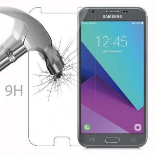 Cadorabo Panzer Folie für Samsung Galaxy J3 2017 - Schutzfolie in KRISTALL KLAR - Gehärtetes (Tempered) Display-Schutzglas in 9H Härte mit 3D Touch Kompatibilität - Vorschau 3