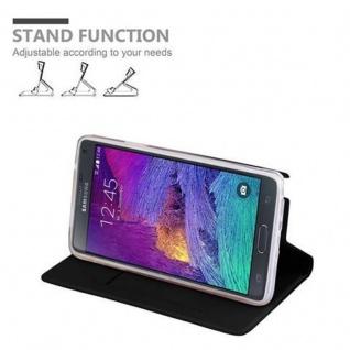 Cadorabo Hülle für Samsung Galaxy NOTE 4 in CLASSY SCHWARZ - Handyhülle mit Magnetverschluss, Standfunktion und Kartenfach - Case Cover Schutzhülle Etui Tasche Book Klapp Style - Vorschau 4