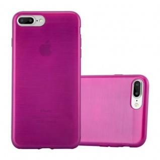 Cadorabo Hülle für Apple iPhone 8 PLUS / iPhone 7 PLUS / iPhone 7S PLUS in PINK Handyhülle aus flexiblem TPU Silikon Silikonhülle Schutzhülle Ultra Slim Soft Back Cover Case Bumper