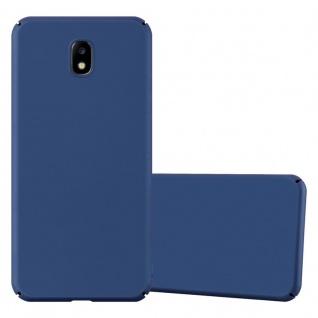 Cadorabo Hülle für Samsung Galaxy J5 2017 in METALL BLAU Hardcase Handyhülle aus Plastik gegen Kratzer und Stöße Schutzhülle Bumper Ultra Slim Back Case Hard Cover