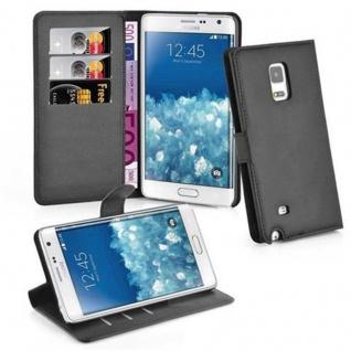Cadorabo Hülle für Samsung Galaxy NOTE EDGE in PHANTOM SCHWARZ Handyhülle mit Magnetverschluss, Standfunktion und Kartenfach Case Cover Schutzhülle Etui Tasche Book Klapp Style