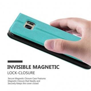 Cadorabo Hülle für Samsung Galaxy S7 in MINT TÜRKIS - Handyhülle mit Magnetverschluss, Standfunktion und 2 Sichtfenstern - Case Cover Schutzhülle Etui Tasche Book Klapp Style - Vorschau 4