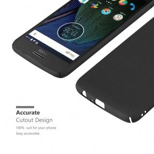 Cadorabo Hülle für Motorola MOTO G5 PLUS in FROSTY SCHWARZ - Hardcase Handyhülle aus Plastik gegen Kratzer und Stöße - Schutzhülle Bumper Ultra Slim Back Case Hard Cover - Vorschau 5