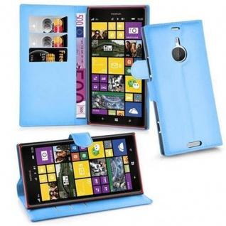 Cadorabo Hülle für Nokia Lumia 1520 in PASTEL BLAU - Handyhülle mit Magnetverschluss, Standfunktion und Kartenfach - Case Cover Schutzhülle Etui Tasche Book Klapp Style