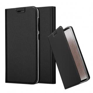 Cadorabo Hülle für HTC Desire 10 Lifestyle / Desire 825 in CLASSY SCHWARZ - Handyhülle mit Magnetverschluss, Standfunktion und Kartenfach - Case Cover Schutzhülle Etui Tasche Book Klapp Style
