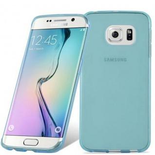 Cadorabo Hülle für Samsung Galaxy S6 EDGE in TRANSPARENT BLAU - Handyhülle aus flexiblem TPU Silikon - Silikonhülle Schutzhülle Ultra Slim Soft Back Cover Case Bumper - Vorschau 2