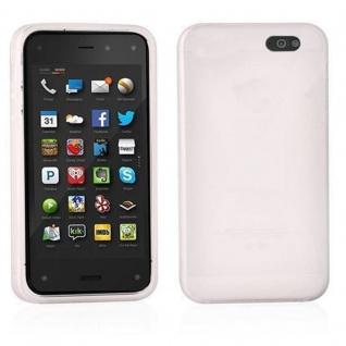 Cadorabo Hülle für Amazon FirePhone in MAGNESIUM WEIß - Handyhülle aus flexiblem TPU Silikon - Silikonhülle Schutzhülle Ultra Slim Soft Back Cover Case Bumper
