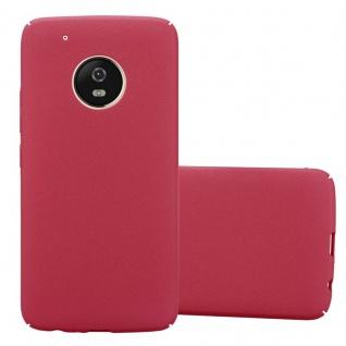 Cadorabo Hülle für Motorola MOTO G5 PLUS in FROSTY ROT Hardcase Handyhülle aus Plastik gegen Kratzer und Stöße Schutzhülle Bumper Ultra Slim Back Case Hard Cover