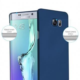 Cadorabo Hülle für Samsung Galaxy S6 EDGE PLUS in METALL BLAU - Hardcase Handyhülle aus Plastik gegen Kratzer und Stöße - Schutzhülle Bumper Ultra Slim Back Case Hard Cover - Vorschau 2