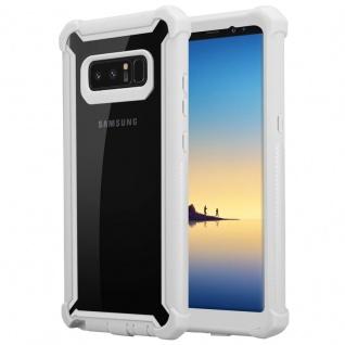 Cadorabo Hülle für Samsung Galaxy NOTE 8 in BIRKEN GRAU - 2-in-1 Handyhülle mit TPU Silikon-Rand und Acryl-Glas-Rücken - Schutzhülle Hybrid Hardcase Back Case
