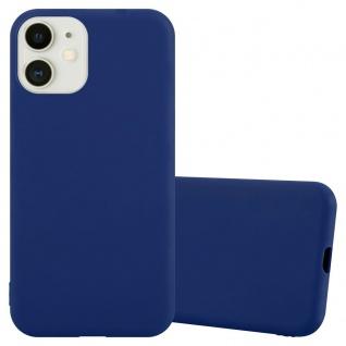 "Cadorabo Hülle für Apple iPhone 12 Mini (5, 4"" Zoll) in CANDY DUNKEL BLAU Handyhülle aus flexiblem TPU Silikon Silikonhülle Schutzhülle Ultra Slim Soft Back Cover Case Bumper"
