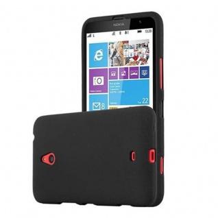 Cadorabo Hülle für Nokia Lumia 1320 in FROST SCHWARZ - Handyhülle aus flexiblem TPU Silikon - Silikonhülle Schutzhülle Ultra Slim Soft Back Cover Case Bumper