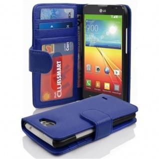 Cadorabo Hülle für LG L90 in NEPTUN BLAU - Handyhülle mit Magnetverschluss und 3 Kartenfächern - Case Cover Schutzhülle Etui Tasche Book Klapp Style