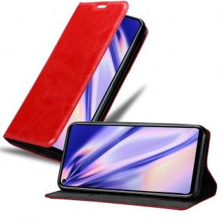 Cadorabo Hülle für Honor 20 PRO in APFEL ROT - Handyhülle mit Magnetverschluss, Standfunktion und Kartenfach - Case Cover Schutzhülle Etui Tasche Book Klapp Style