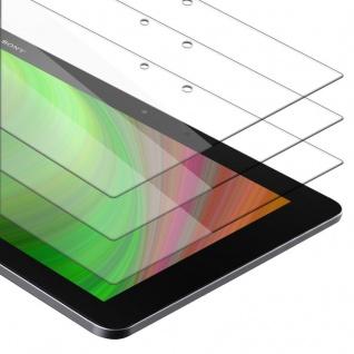 """Cadorabo 3x Panzer Folie für Sony Xperia Tablet Z2 (10.1"""") Schutzfolie in KRISTALL KLAR 3er Pack Gehärtetes (Tempered) Display-Schutzglas in 9H Härte mit 3D Touch Kompatibilität"""