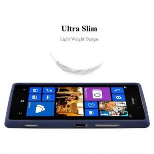 Cadorabo Hülle für Nokia Lumia 925 in FROST DUNKEL BLAU - Handyhülle aus flexiblem TPU Silikon - Silikonhülle Schutzhülle Ultra Slim Soft Back Cover Case Bumper - Vorschau 4