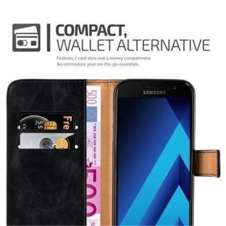 Cadorabo Hülle für Samsung Galaxy A3 2017 in GRAPHIT SCHWARZ ? Handyhülle mit Magnetverschluss, Standfunktion und Kartenfach ? Case Cover Schutzhülle Etui Tasche Book Klapp Style - Vorschau 3