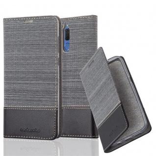 Cadorabo Hülle für Huawei MATE 10 LITE in GRAU SCHWARZ - Handyhülle mit Magnetverschluss, Standfunktion und Kartenfach - Case Cover Schutzhülle Etui Tasche Book Klapp Style