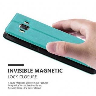 Cadorabo Hülle für Samsung Galaxy A3 2015 in MINT TÜRKIS ? Handyhülle mit Magnetverschluss, Standfunktion und 2 Sichtfenstern ? Case Cover Schutzhülle Etui Tasche Book Klapp Style - Vorschau 5