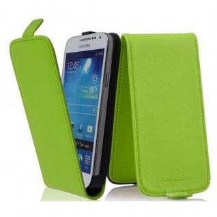 Cadorabo Hülle für Samsung Galaxy S4 MINI in GIFT GRÜN - Handyhülle im Flip Design aus glattem Kunstleder - Case Cover Schutzhülle Etui Tasche Book Klapp Style