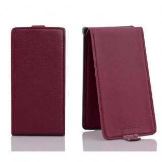 Cadorabo Hülle für Sony Xperia S in BORDEAUX LILA - Handyhülle im Flip Design aus strukturiertem Kunstleder - Case Cover Schutzhülle Etui Tasche Book Klapp Style - Vorschau 2