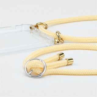 Cadorabo Handy Kette für Huawei P9 in CREME BEIGE - Silikon Necklace Umhänge Hülle mit Silber Ringen, Kordel Band Schnur und abnehmbarem Etui - Schutzhülle - Vorschau 2