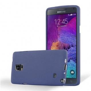 Cadorabo Hülle für Samsung Galaxy NOTE 4 in FROST DUNKEL BLAU Handyhülle aus flexiblem TPU Silikon Silikonhülle Schutzhülle Ultra Slim Soft Back Cover Case Bumper