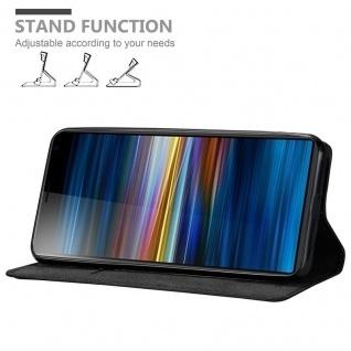 Cadorabo Hülle für Sony Xperia 10 PLUS in NACHT SCHWARZ - Handyhülle mit Magnetverschluss, Standfunktion und Kartenfach - Case Cover Schutzhülle Etui Tasche Book Klapp Style - Vorschau 4