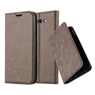 Cadorabo Hülle für Samsung Galaxy J3 2017 US Version in KAFFEE BRAUN - Handyhülle mit Magnetverschluss, Standfunktion und Kartenfach - Case Cover Schutzhülle Etui Tasche Book Klapp Style