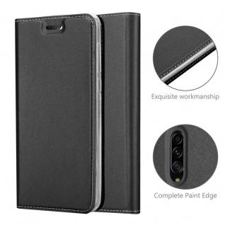 Cadorabo Hülle für Samsung Galaxy A90 5G in CLASSY SCHWARZ - Handyhülle mit Magnetverschluss, Standfunktion und Kartenfach - Case Cover Schutzhülle Etui Tasche Book Klapp Style - Vorschau 5