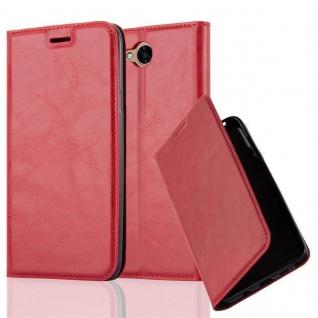 Cadorabo Hülle für LG X POWER 2 in APFEL ROT - Handyhülle mit Magnetverschluss, Standfunktion und Kartenfach - Case Cover Schutzhülle Etui Tasche Book Klapp Style