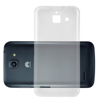 Cadorabo Hülle für Huawei ASCEND G730 - Hülle in VOLL TRANSPARENT ? Handyhülle aus TPU Silikon im Ultra Slim 'AIR' Design - Ultra Slim Soft Backcover Case Bumper