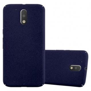 Cadorabo Hülle für Motorola MOTO G4 / MOTO G4 PLUS in FROSTY BLAU - Hardcase Handyhülle aus Plastik gegen Kratzer und Stöße - Schutzhülle Bumper Ultra Slim Back Case Hard Cover