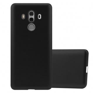 Cadorabo Hülle für Huawei MATE 10 PRO in METALLIC SCHWARZ - Handyhülle aus flexiblem TPU Silikon - Silikonhülle Schutzhülle Ultra Slim Soft Back Cover Case Bumper