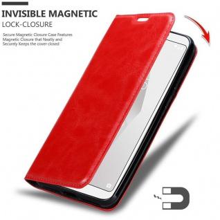 Cadorabo Hülle für BQ Aquaris C in APFEL ROT Handyhülle mit Magnetverschluss, Standfunktion und Kartenfach Case Cover Schutzhülle Etui Tasche Book Klapp Style - Vorschau 3