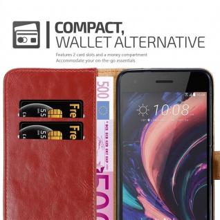 Cadorabo Hülle für HTC Desire 10 PRO in WEIN ROT - Handyhülle mit Magnetverschluss, Standfunktion und Kartenfach - Case Cover Schutzhülle Etui Tasche Book Klapp Style - Vorschau 5