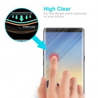 Cadorabo Panzer Folie für Samsung Galaxy NOTE 8 - Schutzfolie in KRISTALL KLAR - Gehärtetes (Tempered) Display-Schutzglas in 9H Härte mit 3D Touch Kompatibilität - Vorschau 5
