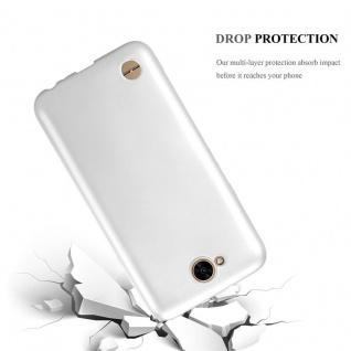 Cadorabo Hülle für LG X Power 2 in METALLIC SILBER - Handyhülle aus flexiblem TPU Silikon - Silikonhülle Schutzhülle Ultra Slim Soft Back Cover Case Bumper - Vorschau 3
