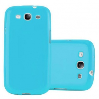 Cadorabo Hülle für Samsung Galaxy S3 / S3 NEO in JELLY HELL BLAU ? Handyhülle aus flexiblem TPU Silikon ? Silikonhülle Schutzhülle Ultra Slim Soft Back Cover Case Bumper