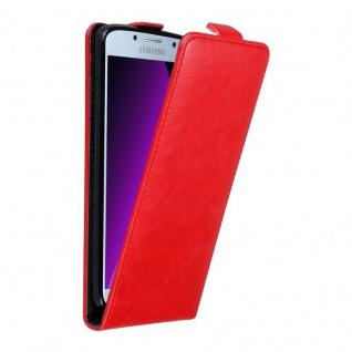 Cadorabo Hülle für Samsung Galaxy A5 2017 in APFEL ROT Handyhülle im Flip Design mit unsichtbarem Magnetverschluss Case Cover Schutzhülle Etui Tasche Book Klapp Style