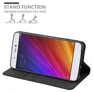Cadorabo Hülle für Xiaomi Mi 5S in NACHT SCHWARZ - Handyhülle mit Magnetverschluss, Standfunktion und Kartenfach - Case Cover Schutzhülle Etui Tasche Book Klapp Style - Vorschau 4